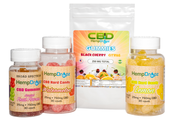 CBD gummies and hard candy